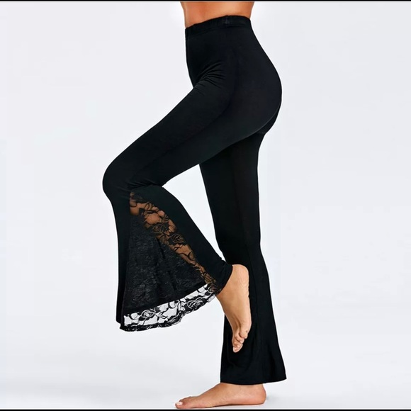 NWOT Lace Black High Rise Women's Pants